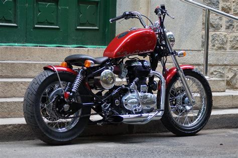 baron 500cc royal enfield bobber by bulleteer customs 350cc modified royal enfield