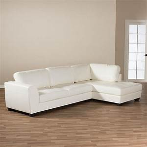 baxton studio orland 2 piece contemporary white faux With sectional sofa separate pieces