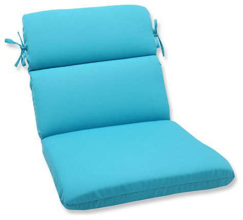 veranda turquoise rounded corners chair cushion tropical
