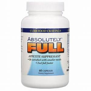 Absolute Nutrition  Absolutely Full  Appetite Suppressant  60 Capsules