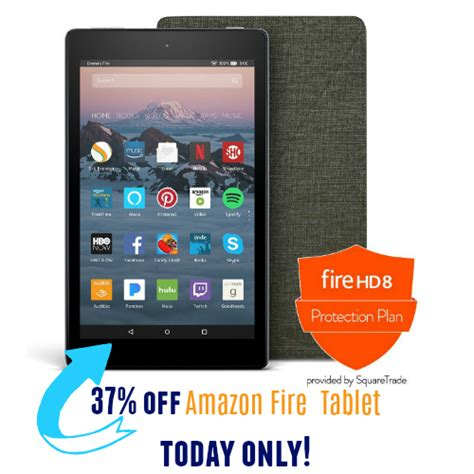 today only kindle hd 8 tablet with protection plan