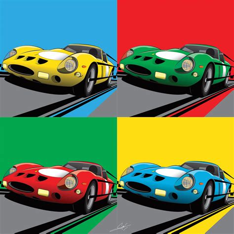 Ferrari brochures literature memorabilia manuals and collectibles. Ferrari Pop Art | Auto
