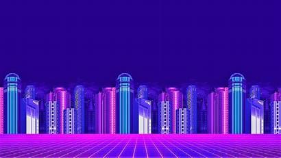 Neon Pixel Vaporwave Desktop Wallpapers 4k Purple