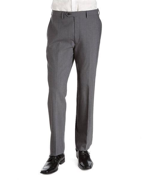 Lauren By Ralph Lauren Plaid Flatfront Wool Dress Pants in Gray for Men (grey) | Lyst
