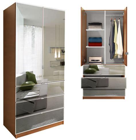 Mirrored Wardrobe With Shelves by Alta Wardrobe Armoire 3 Drawer Wardrobe Shelves