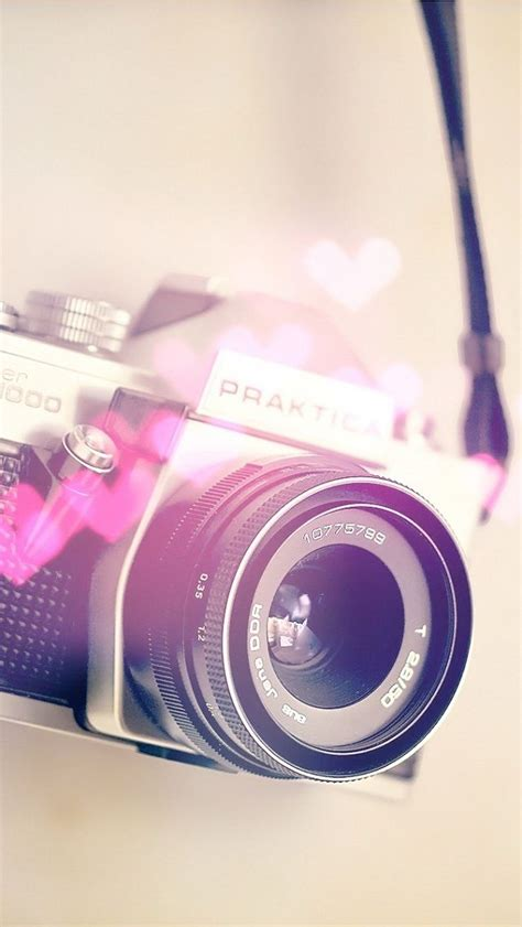 pink beautiful camera hd iphone  wallpaper pinterest