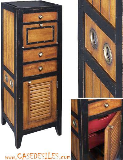 le de bureau laiton meuble de rangement marine casier en bois mf061