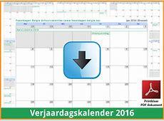 Kalenders 2016 Gratis Downloaden en Printen ? Feestdagen
