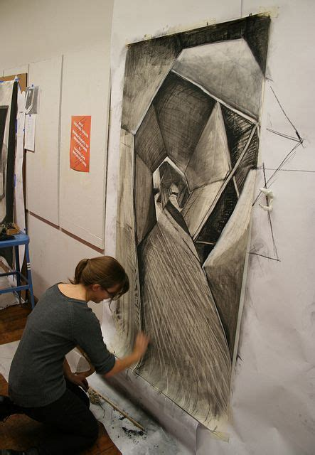 large charcoal drawing   art art drawings ap