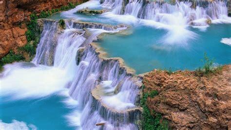 beautiful waterfall wallpaper  background