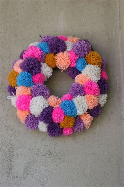 pom pom colorful diy pom pom rug and another creative projects