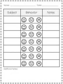 Kindergarten Behavior Chart