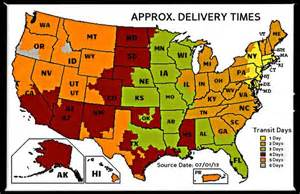 UPS Ground Shipping Map New York Times