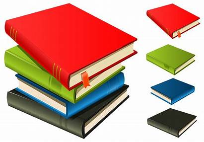 Stack Books Separated Vector Clipart Each Bookmark