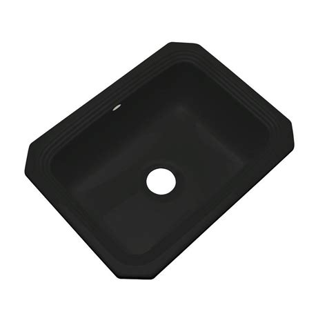 Thermocast Black Kitchen Sinks by Thermocast Rochester Undermount Acrylic 25 In Single Bowl