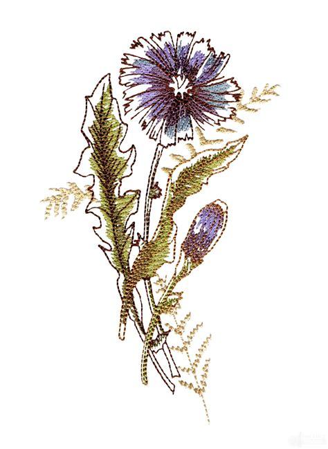 artists garden flower 9 embroidery design