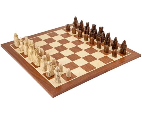 mahogany chess set the isle of lewis large mahogany chess set rcpb230 163 3945