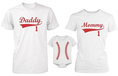 Outdoor Ceiling Fans Amazon by Daddy Mommy And Baby Matching Baseball T Shirt And Onesie