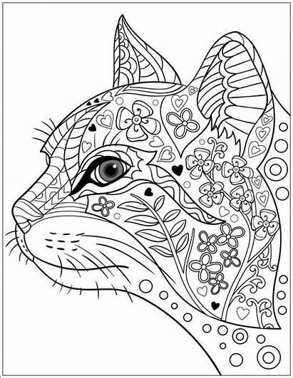 Cat Coloring Mandala Pages Cats Getcolorings Printable