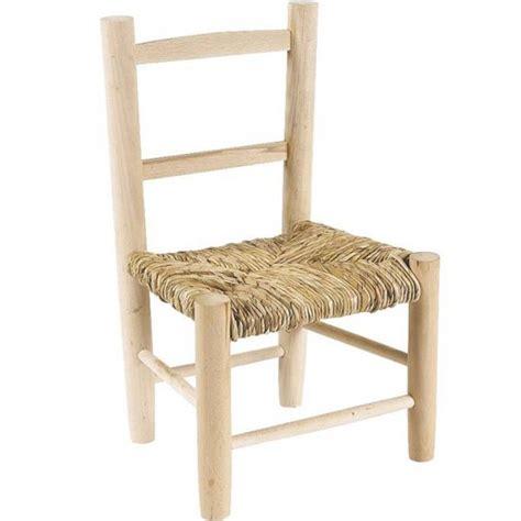 peindre des chaises en bois chaise enfant paille bois brut à peindre la vannerie d