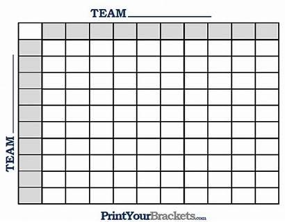Squares Football Printable Pool Template Pools Grid