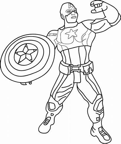 Captain Coloring America Pages Avengers Printable Lego
