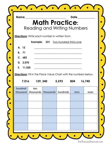 free reading and writing numbers in expanded form