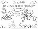 Coloring Pages Leprechaun Rainbow Printable Getcolorings sketch template