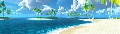 Dual Monitor Panoramic Screen Wallpapers Beach Windows