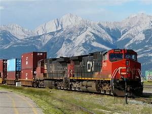 Panoramio - Photo of CN container cargo train at the ...