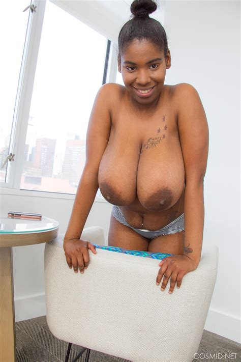 Busty Ebony Girl Quana Stevens Shows You Her Enormous Jugs