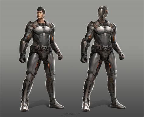 armor si e social sci fi character design by therafa on deviantart