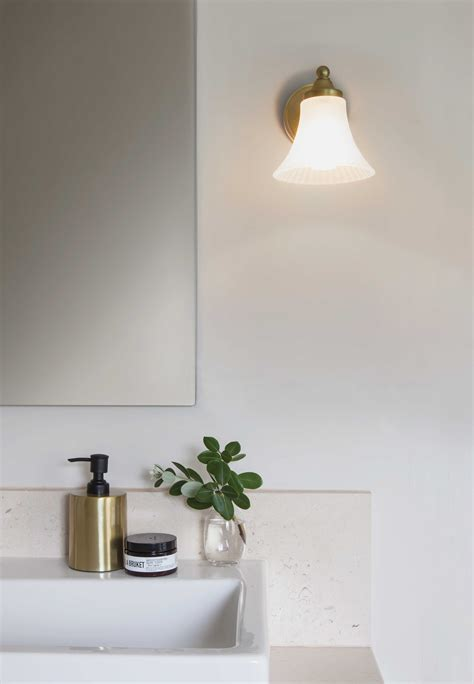 astro nena matt gold bell shaped bathroom wall light 1 40w g9 ip44 liminaires