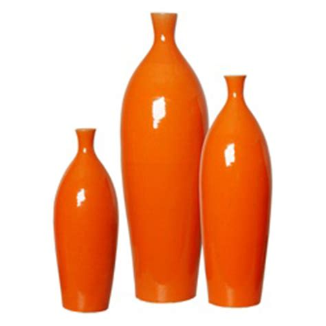 Orange Vases Accessories by Beautiful Vases Accents Demi