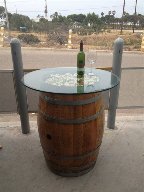 wine barrel table https www