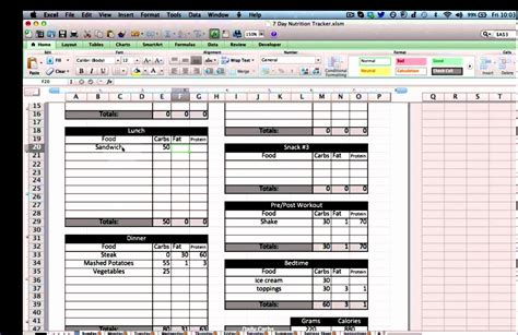 food diary excel template erabm lovely free printable
