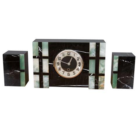 deco mantle clock and garniture at 1stdibs