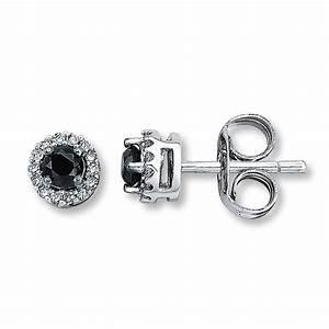 Diamond Earrings: Black Diamond Earrings White Gold