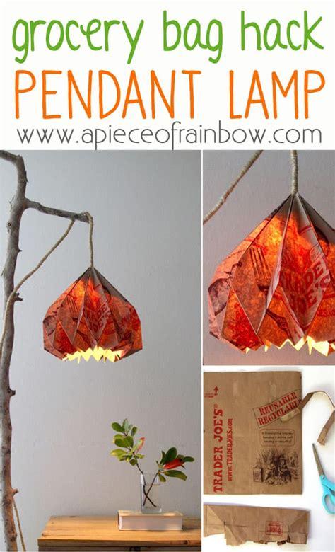 easy diy pendant light  beautiful origami lampshade
