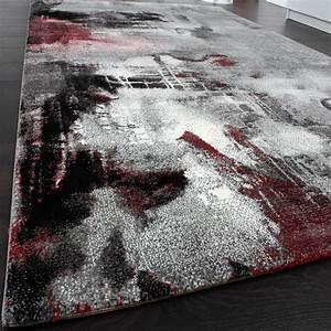 Teppich Grau Modern : teppich modern designer teppich leinwand optik meliert schattiert grau rot creme wohn und ~ Whattoseeinmadrid.com Haus und Dekorationen