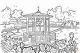 Coloring Gazebo Pages sketch template