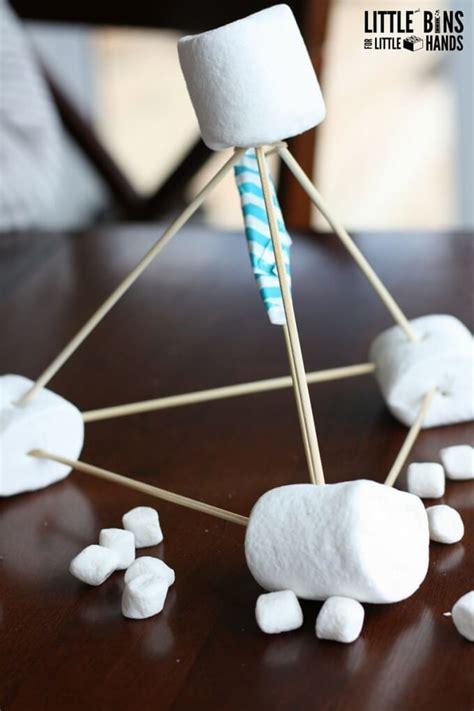marshmallow catapult activity instructions marshmallows stem easy build mini launchers table littlebinsforlittlehands