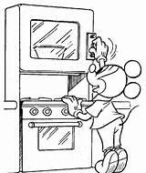 Mickey Coloring Mouse Pintar Colorare Topolino Pie Making Cocinero Paperone Zio Pluto Paperino Forno Disegno Imgmax 2008 Disney Coloringonly Muestra sketch template