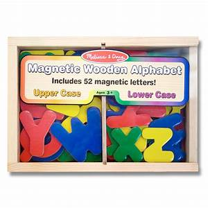 Magnetic wooden alphabet from melissa and doug wwsm for Melissa and doug wooden magnetic letters and numbers