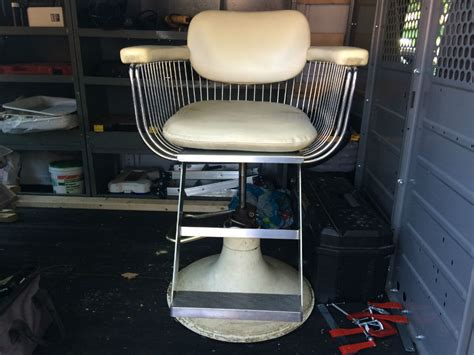vintage antique takara belmont barbers chair white