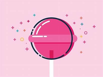 Lollipop Dribbble Pop Candy Duc Tran Space