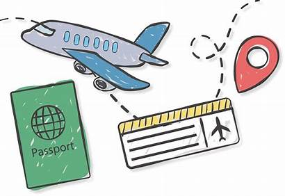 Travel Passport Abroad Airplane Airline Clipart Painted