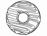 Donut Coloring Pages Printable Line Drawing Donuts Doughnut Frosting Coloringcrew Sheets Template Drawings Cupcakes Google Colouring Pasta Bread Cartoon Getcolorings sketch template
