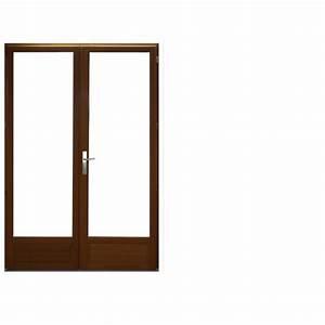 porte fenetre en bois 2 vantaux 225 x 140 achat vente With porte fenetre 2 vantaux bois