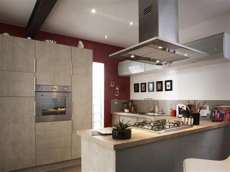 cuisine sur la 2 îlot et bar dans une cuisine de 10m leroy merlin